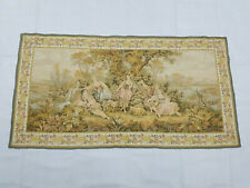 Vintage French Romantic Scene Wall Hanging Tapestry (178X93cm)