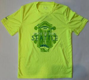 BROOKS Men's XS Fluorescent Yellow Running Jogging Exercise T-Shirt SEATTLE New