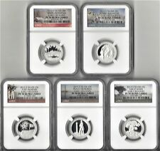 2013 S Silver Quarter 5 Coin Proof Set NGC PF70 ULTRA CAMEO ATB  EARLY RELEASES