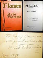 1928 ARIO FLAMMA FLAMES & OTHER PLAYS INSCRIBED SIGNED TO PERCY HAMMOND