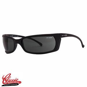 Arnette Slide 4007 01 Matte Black Frame with Grey Lens Mens Slim Wrap Sunglasses