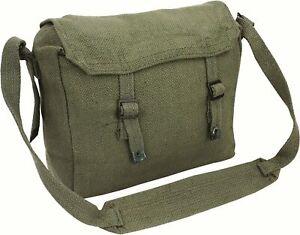 Highlander Army/Military Webbing Haversack Messenger Bag - OLIVE