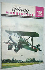 AVIATION PLANY MODELARSKIE 116 1983 MODELISME PLANS AVION BARTEL BM-5 POLSKA