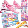 10 Unicorn Flying Plane Glider Girls Party Bag Filler Toys Pinata Loot Bag prize