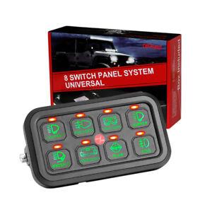 8 Gang LED Switch Control Panel Electronic Relay System Car Boat Marine  12V 24V