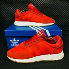 *NEW* Adidas Original Iniki Boost Mens Shoes Red Running Sneakers NMD