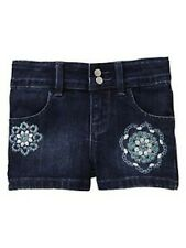 NWT BABY GAP GIRL'S VILLA OASIS FLORAL EMBROIDERED DENIM SHORTS ( 2 YEARS) 2T