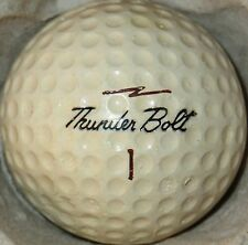 (1) THUNDER BOLT CUT PROOF SIGNATURE LOGO GOLF BALL (CIR 1963) #1