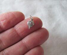 Small Sterling Silver Hot air Balloon miniature charm.