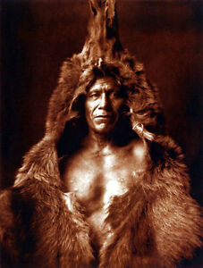 Bears Belly 22x30 Edward S. Curtis Native American Indian Art Print