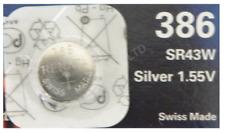 Genuine Renata 386 SR43W Silver Oxide Watch Battery 1.55v [1-Pack]