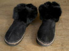 Isotoner Black Micro Suede & Rubber Slipper Booties Ladies 8.5 9