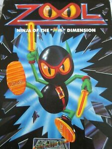 Vintage Retro Commodore Amiga Game: ZOOL (2 Floppies) Complete Only 1 on Ebay