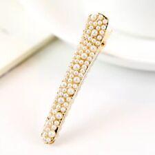 Fashion Sweet Korean White  Full Pearl Hair Clip Barrette Bobby Pins