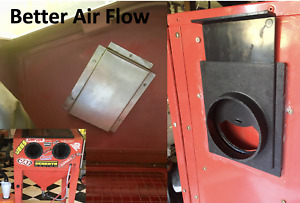 Harbor Freight Sand Blast Cabinet Air Flow Upgrades =1 baffle +1 blast gate