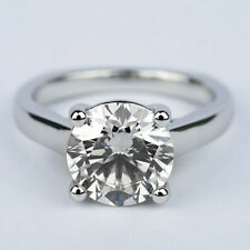 Solitaire Round Cut Diamond Engagement Ring 1.20 Carat VS1/H White Gold