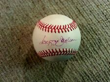 Reggie Jackson Autographed Baseball on a Bobby Brown American League Ball