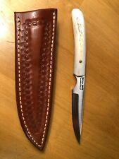 Buffalo Knives - Bird & Trout Knife - D2 steel - Saddle Leather Sheath