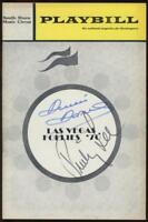 """DENISE DARCEL and PINKY LEE dual-signed """"Las Vegas Follies"""" Playbill - Autograph"""