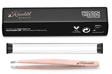 Professional Kanddit Eyebrow Tweezers Slanted Tip Stainless Steel Tweezer Or Set