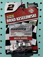 2020 Nascar Authentics Wave 6 Brad Keselowski #2 Truck Alliance 1//64 Diecast
