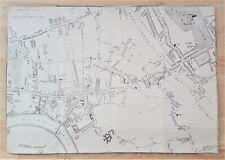 Map Of Hammersmith - London - Linen 1870 - 1880 John Bartholemew - George Newnes