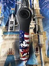 NEW DISNEY PARKS Mickey Mouse USA BLACK Magic Band Magicband 2 Unlinked