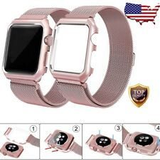 42mm Strap Band Stainless Steel Apple Watch Series 3 2 1 Wristband Rose Gold USA