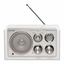 Denver Tr-61 blanco Design-radio U/m auxiliar