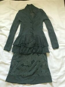 metalicus dress and jacket cardigan, one size, unique green