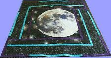 "Handmade * ""Full Moon Rising"" * Wall Hanging/ Lap Cover/ Table Decor * 50"" x 50"""