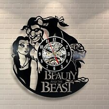 Beauty And The Beast_Exclusive wall clock made of vinyl record_GIFT_DECOR