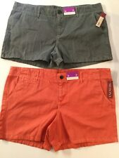 Merona Chino Shorts NWT Size 16 Neon Orange Summer Spring Outdoors Hiking