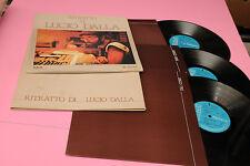 LUCIO DALLA 3LP  EUROCLUB ORIG ITALY 1979 EX CON SOVRACOPERTINA TOP RARE !!!!!!!