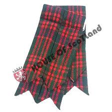 Men's Highland Kilt Hose Sock Flashes MacDonald Tartan Garter Pointed Acrylic