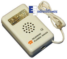 SUONERIA TELEFONICA  SUPPLEMENTARE CON FLASH ACUSTICA E VISIVA x TELEFONO