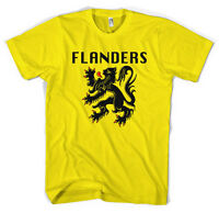 Flanders Flag Giro Tour De France Cycling Jersey Unisex T shirt  All Sizes