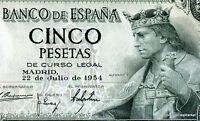 Espagne SPAIN ESPANA Billet 5 PESETAS 1954 P146 REY ALFONSO X  NEUF UNC