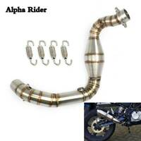 Motorcycle Exhaust Contact Middle Mid Link Pipe For BMW G310GS G310R 2017-18