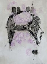 Abstrakte künstlerische Porträts mit Acryl-Technik