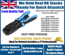 NEW RJ45 Ratchet Crimping Crimp Tool Blue RJ11 RJ12 Cutter Stripper CAT5e CAT6