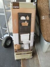 Espresso Space Saver Bathroom Wood Storage Organizer Shelves Cabinet Over Toilet