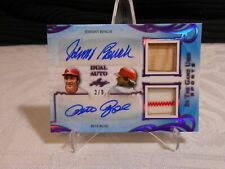 2019 Leaf DUAL AUTO RELIC Pete Rose / Johnny Bench REDS  Bat / Jersey #/d 2/9