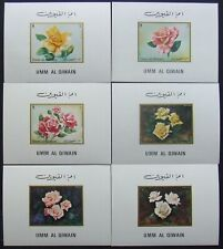 /Umm Al Qiwain-Flowers,Roses-6 S/Sh.De Lux Imperf.-MNH**, UAQ 030