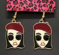 New Enamel Cute Fashion Sunglasses Girls Betsey Johnson Women Stand Earrings
