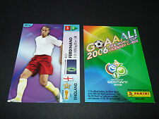 RIO FERDINAND ENGLAND PANINI CARD FOOTBALL GERMANY 2006 WM FIFA WORLD CUP