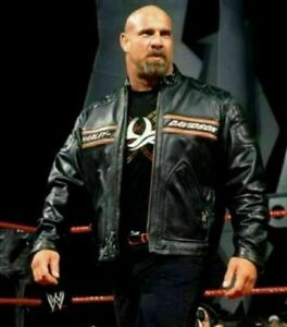 GOLDBERG BILL CLASSIC WWE MENS HARLEY DAVIDSON BLACK LEATHER MOTORCYCLE JACKET