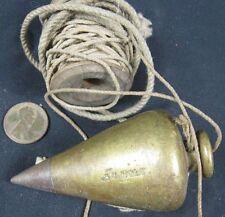 Antique Brass Plumb Bob S C Holt