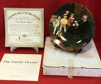 "Bradfor Exchange Norman Rockwell ""The Family Doctor"" Collector Plate Knowles COA"