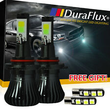 DuraFlux H10 9145 White Ice Blue Super Bright LED Fog Light Bulb Dual Color Lamp